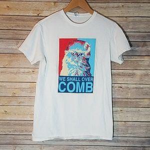 Tops - We Shall Over Comb Cat Trump Shirt